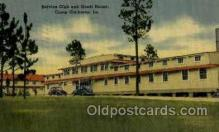 mil050021 - Service club and Guest house, Camp Claiborn, LA, Los Angels Military Postcard Postcards