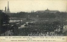 mil050042 - American Independence Day in paris, July 4th 1918 Military Postcard Postcards
