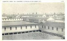 mil050126 - Hospital Area, 4th Armored Division, Pine Camp, NY, New York, USA US Navy, Military Postcard Postcards
