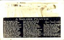 mil050130 - A Sailors Prayer US Navy, Military Postcard Postcards