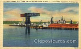 mil050132 - U.S. Navy yard, Bremerton, Washington, USA US Navy, Military Postcard Postcards