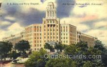 mil050144 - US. Amy and navu hospital, Arkansas, USA US Navy, Military Postcard Postcards