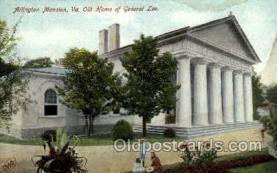 mil050160 - Arlington mansion, VA, Verginia, USA Military Postcard Postcards