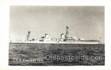 mil050185 - USS Louisville Real Photo Military Postcard Postcards