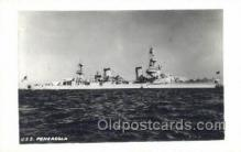 mil050197 - USS Pensacola Real Photo Military Postcard Postcards