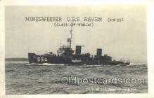 mil050201 - USS Raven Real Photo Military Postcard Postcards