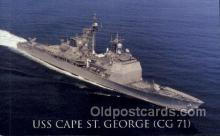 mil050244 - USS Cape St George Military Postcard Postcards