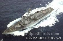 mil050249 - USS Barry Military Postcard Postcards