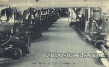 mil050278 - USF Constitution, Gun Deck Military Postcard Postcards