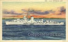 mil050286 - USS Destroyer Blue Military Postcard Postcards
