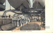 mil050292 - Battle Ship Kentucky Gun Deck Military Postcard Postcards