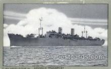mil050303 - Advance Transport Military Ship Old Vintage Antique Post Card Postcards