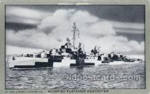 mil050304 - Modified Fletcher Destroyer Military Ship Old Vintage Antique Post Card Postcards