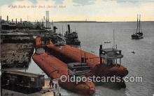 mil050312 - Whale Backs Dock, Detroit, Michigan Postcard Post Card