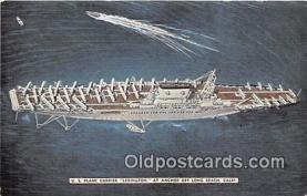 mil050322 - US Plane Carrier Lexington Long Beach, California Postcard Post Card