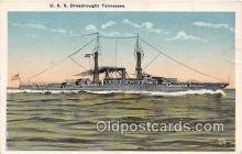 mil050325 - USS Dreadnought Tennessee  Postcard Post Card
