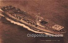 mil050327 - USS Mindoro CVE 120  Postcard Post Card