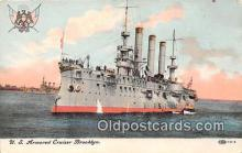 mil050330 - US Armored Cruiser Brooklyn  Postcard Post Card