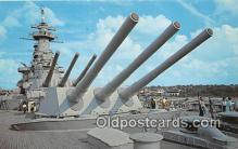 mil050331 - USS North Carolina's Big Guns Wilmington, North Carolina Postcard Post Card