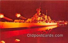 mil050336 - Sound & Light Spectacle, USS North Carolina Battleship Memorial Wilmington, North Carolina Postcard Post Card