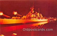 mil050352 - Sound & Light Spectacle, USS North Carolina Battleship Memorial Wilmington, North Carolina Postcard Post Card