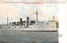 mil050354 - US Cruiser Philadelphia Philadelphia, PA Postcard Post Card