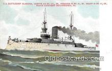 mil050355 - US Battleship Alabama Philadelphia, PA Postcard Post Card