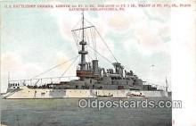 mil050356 - US Battleship Indiana Philadelphia, PA Postcard Post Card