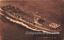 mil050358 - USS Mindoro CVE 120  Postcard Post Card
