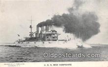 mil050359 - USS New Hampshire  Postcard Post Card