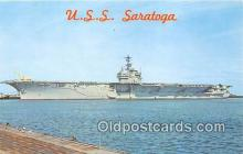 mil050366 - USS Saratoga  Postcard Post Card