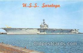 mil050366 - USS Saratoga  Postcard Post Card