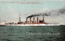 mil050377 - US Armored Cruiser  Postcard Post Card