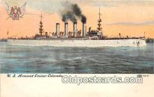 mil050378 - US Armored Cruiser Colorado  Postcard Post Card