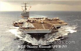 mil050382 - USS Theodore Roosevelt CVN-71  Postcard Post Card