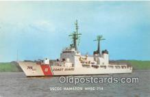 mil050386 - USCGC Hamilton WHEC 715  Postcard Post Card