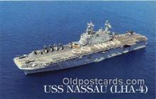 mil050388 - USS Nassau LHA-4 Amphibious Assault Ship Postcard Post Card