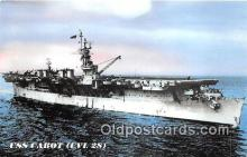 mil050392 - USS Cabot CVL 28 WWII Service Postcard Post Card
