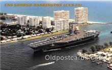 mil050394 - USS George Washington CVN-73 Fort Lauderdale, Florida Postcard Post Card