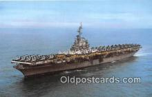 mil050396 - USS Wasp CV CVA CVA 18 Quincy, Mass Postcard Post Card