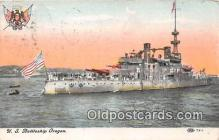 mil050407 - US Battleship Oregon  Postcard Post Card