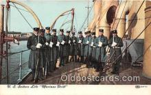 mil050408 - US Sailors Life Marines Drill  Postcard Post Card