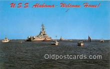 mil050410 - USS Alabama McDuffie Island Postcard Post Card