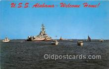 mil050414 - USS Alabama McDuffie Island Postcard Post Card