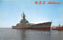 mil050415 - USS Alabama  Postcard Post Card