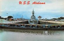 mil050417 - USS Alabama Panama Canal Postcard Post Card