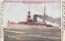 mil050418 - US Battleship Alabama Philadelphia, PA Postcard Post Card
