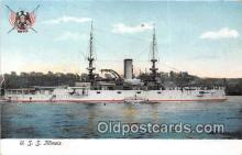 mil050433 - USS Illinois  Postcard Post Card