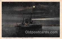 mil050436 - US Battleship Virginia Norfolk Harbor Postcard Post Card