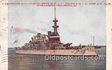 mil050437 - US Battleship Massachusetts Philadelphia, PA Postcard Post Card